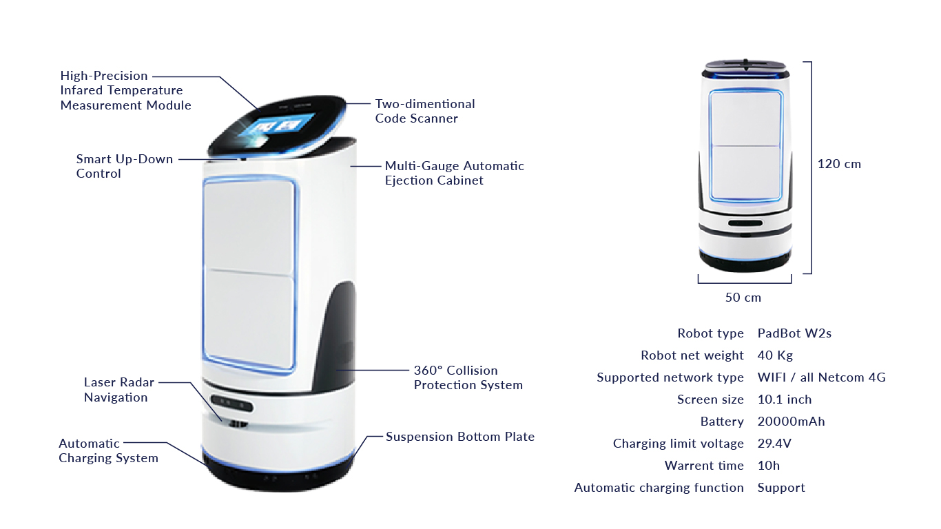 lorabots-delivery-robot-padbot-w2s-product-specification-combat-covid-19-singapore