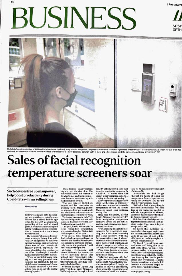 Lorascan_Facial_Recognition_Temperature_Scanner_Featured_On_Straits_Times_Business_Singapore