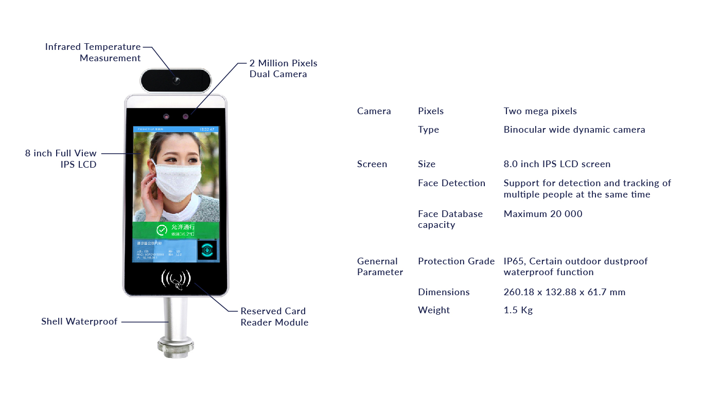 lorabots-lorascan-contactless-AI-temperature-scanner-facial-recognition-scanner-product-specification-combat-coronavirus-covid-19-singapore