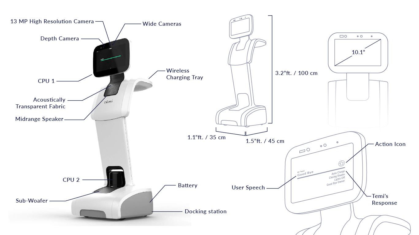 lorabots-telepresence-robot-temi-product-specifications-singapore